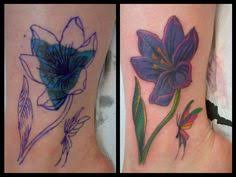 cover up name before and after ankle butterfly swirls girly