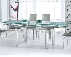 glass dining table set white clear glass windows modern glass