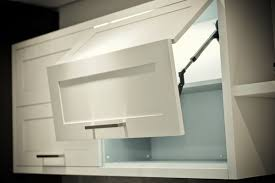 Cabinet Door Lift Systems Folding Door Lift System Meridian Wide Rail Kitchen Nickels