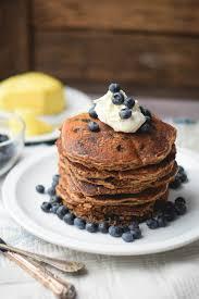 whole wheat blueberry pancakes gringalicious