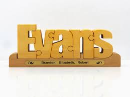 personalized wooden gifts personalized wooden name puzzle an original and special family
