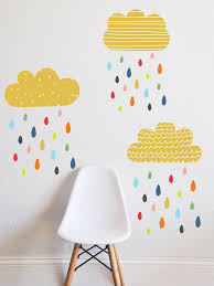 colorful rains wall decal wall decals walls and adhesive vinyl