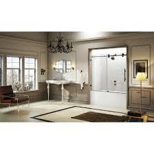 oil rubbed bronze sliding glass shower doors