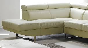 Full Top Grain Leather Sofa by White Top Grain Full Leather Modern Sectional Sofa