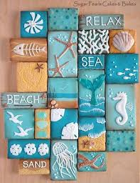 themed tiles 10 coastal cookies coastal and crafts