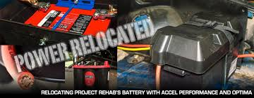 mustang battery battery relocation with accel and optima on our fox mustang
