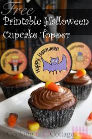 free printable halloween cupcake toppers printable halloween cupcake topper u2013 cooking up cottage