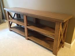 rustic x console table the process a rustic x console table mason jar moments
