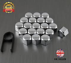 mercedes wheel nuts 20 car bolts alloy wheel nuts covers 17mm chrome for mercedes c
