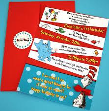 How To Make An Invitation Card Dr Seuss Party Invitations Plumegiant Com