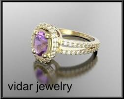 Amethyst Wedding Rings by Amethyst Engagement Ring Etsy