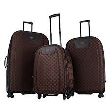ultra light luggage sets amazon com 3 piece set brown color charlie sport ultra light