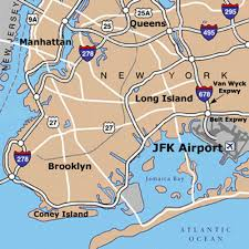 New York On Map Official Map Jfk Airport Airtrain Map New York New Jfk Map