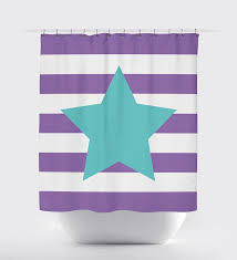 Blue And White Striped Shower Curtain Custom Striped Shower Curtain With Star For Girls U2013 Shop Wunderkinds