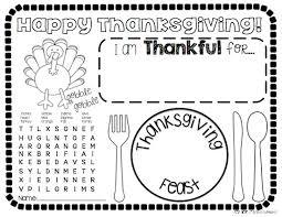 thankful placemats ke class works