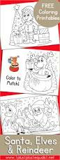 santa elves reindeer coloring 1 1 1 u003d1