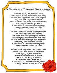 a thousand thanksgivings hymn jessicalynette
