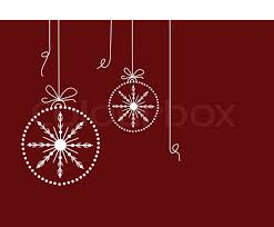 christmas baubles on maroon background stock vector colourbox