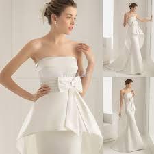 2015 unique silk satin wedding dress and detachable train with