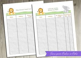 list of baby shower baby shower guest list template 8 free word excel pdf format