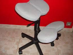 fauteuil bureau dos chaise de bureau à genoux dos droit réglable occasion