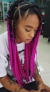 grey and purple combined together style box breads 42 chunky cool jumbo box braids styles in every length part 8