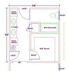 Master Bedroom X Floor Plan With X Bath And Walk In Closet - Bathroom with walk in closet designs
