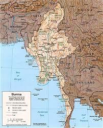 Map Of Asia With Capitals by Myanmar Map Burma Capital Rangoon Yangon