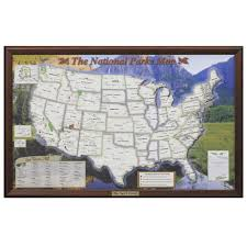 map us national parks the personalized u s national parks map hammacher schlemmer
