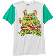teenage mutant ninja turtle men u0027s pizza color block graphic short