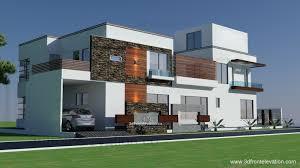 3d front elevation com 500 square yards house plan 3d front