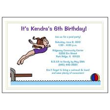 swimming and pool party invitations favors and birthday t shirts