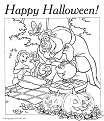 disney halloween coloring pages beauty and the beast