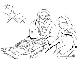 christmas crib coloring pages joseph mary and jesus printable for