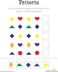 a pattern worksheet generator shapes colors skip counting and