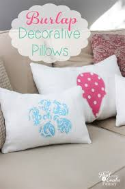 burlap summer or any season decorative pillows