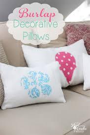 Burlap Decorative Pillows Burlap Summer Or Any Season Decorative Pillows