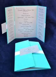 folded wedding program the katherine custom gate fold wedding program shown