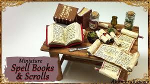 top halloween books miniature scrolls u0026 spell books halloween paper fabric tutorial