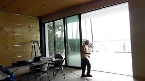 sliding glass pocket doors exterior fleetwood automated pocket sliding door youtube