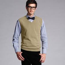 buy vancl classic solid sweater vest khaki sku 7788 from