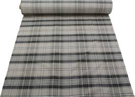 Plaid Curtain Material Designer Discount Linen Look Tartan Check Plaid Curtain Upholstery