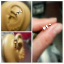 earring helix silver cartilage tragus helix stud earring jewelry piercing