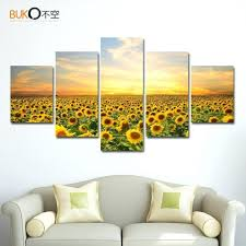 plant home decor wall ideas 2017 sunflower shaped transparent wall hanging vase