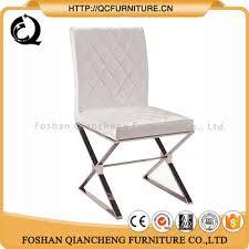 cheap wholesale stainless steel cross leg restaurant dining chair
