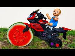 paw patrol power wheels baby steals bike and drive ride on power wheel kids red bike paw