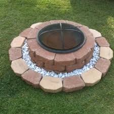 Simple Backyard Design Ideas Diy Fire Pit The Lower Level Will Keep Kids From Getting Too