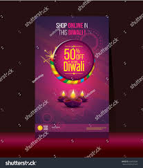 diwali festival offer poster design template stock vector