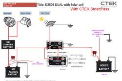 recommended battery isolator for house battery and solar panel