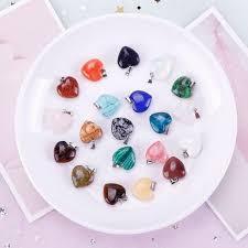 diy necklace set images Keyzone 20 pieces heart water drop shape stone pendants charms jpg